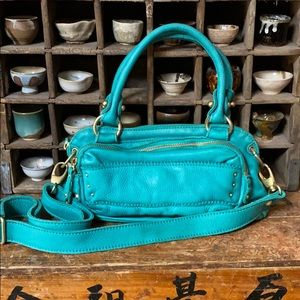 Beautiful turquoise leather bag